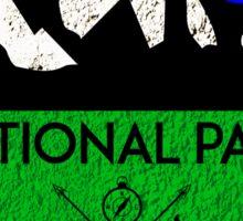 BADLANDS NATIONAL PARK SOUTH DAKOTA MOUNTAINS HIKING CAMPING HIKE CAMP HUNTING Sticker