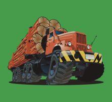 cartoon logging truck Baby Tee