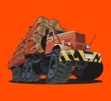 cartoon logging truck Kids Tee