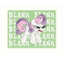 Sweetie Belle Blank Flank Art Print