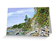 Camano island beach  Greeting Card