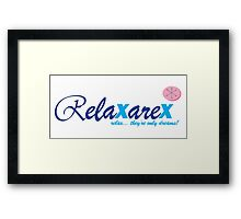Relaxarex - Transparent Background Framed Print
