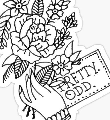 pretty. odd. flowers Sticker