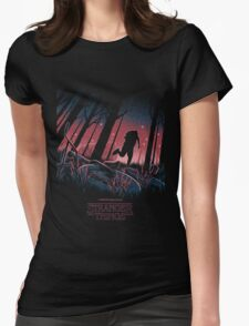 Stranger Things Run Womens Fitted T-Shirt