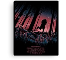 Stranger Things Run Canvas Print