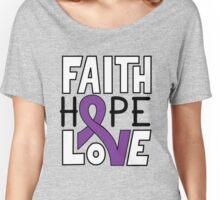Faith Hope Love - Pancreatic Cancer Awareness Women's Relaxed Fit T-Shirt