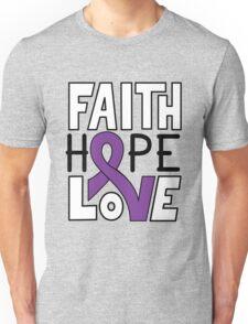 Faith Hope Love - Pancreatic Cancer Awareness Unisex T-Shirt