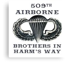 Jump Wings - 509th Airborne - Brothers in Harm's Way Canvas Print
