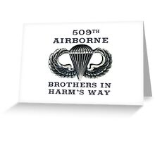 Jump Wings - 509th Airborne - Brothers in Harm's Way Greeting Card