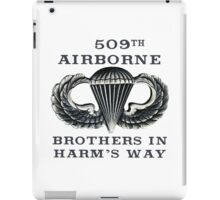 Jump Wings - 509th Airborne - Brothers in Harm's Way iPad Case/Skin