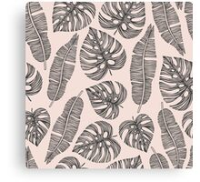 Tropical exotic palm leaves. Canvas Print