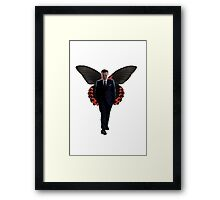 Moriarty with butterfly wings  Framed Print