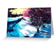 Icy Morning Greeting Card