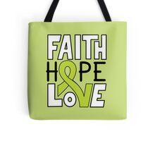 Faith Hope Love - Lymphoma Cancer Awareness Tote Bag