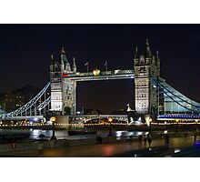 Night Falls on Tower Bridge Photographic Print