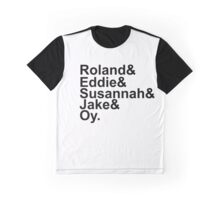 Stephen King The Dark Tower Roland And Eddie And Susannah And Jake And Oy  Graphic T-Shirt