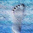 blue foot print by poupoune