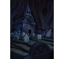 Sleepy Hollow Churchyard Cemetery Photographic Print