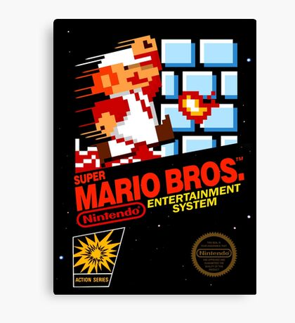 Super Mario: Box Art Canvas Print