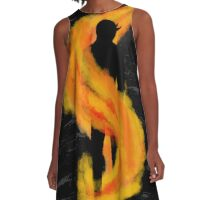 Half in Shadow, Half Burned A-Line Dress
