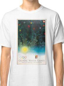 Vintage Poster - 1948 Winter Olympics, St. Moritz, Switzerland Classic T-Shirt