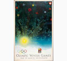 Vintage Poster - 1948 Winter Olympics, St. Moritz, Switzerland Unisex T-Shirt