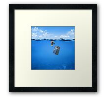 Tardis In The Water Framed Print