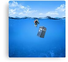 Tardis In The Water Canvas Print