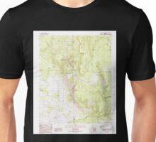 USGS TOPO Map Arizona AZ Fitzgerald Hill 311325 1989 24000 Unisex T-Shirt