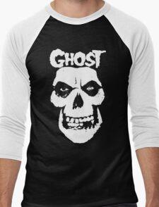 Crimson Ghost B.C Skull Men's Baseball ¾ T-Shirt