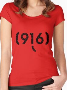 Area Code 916 California Women's Fitted Scoop T-Shirt