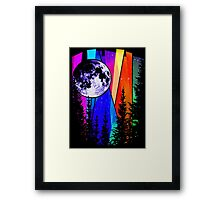 Northern Lights Moon Framed Print