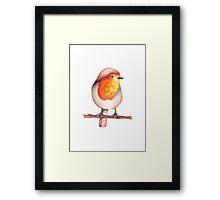 Watercolour Robin in Snow Framed Print