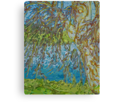 Willow By Water Canvas Print