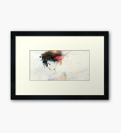 stroke of genius Framed Print