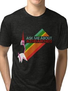 Ask Me About Azhdarchids (dark version) Tri-blend T-Shirt
