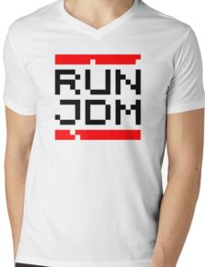 RUN JDM (1) Mens V-Neck T-Shirt