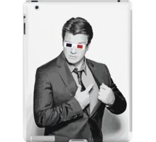 Nathan Fillion - 3D Glasses iPad Case/Skin