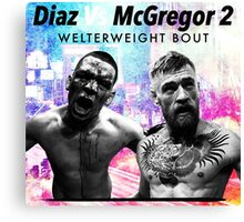 diaz vs mcgregor Canvas Print