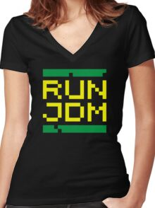 RUN JDM (3) Women's Fitted V-Neck T-Shirt
