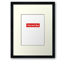 Harambe Logo Framed Print