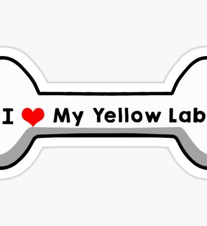 I love My Yellow Lab Sticker