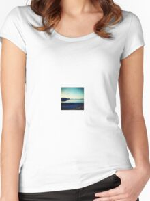 Sunrise seascape Women's Fitted Scoop T-Shirt