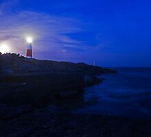 Portland Bill Lighthouse at dusk by Ian Middleton