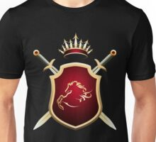 Coat of Fame with two swords and Crown Unisex T-Shirt