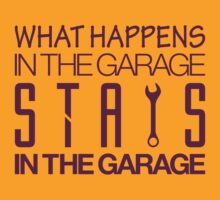 What happens in the garage Stays in the garage (2) by PlanDesigner