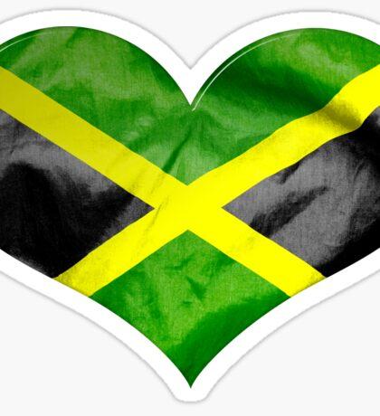 Jamaica Flag Love Heart Sticker