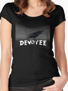 The Devotee's Crow and stars Women's Fitted Scoop T-Shirt