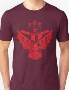Freedom Crest -Red Unisex T-Shirt