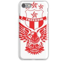 Freedom Crest -Red iPhone Case/Skin